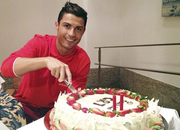 A festa de Cristiano Ronaldo