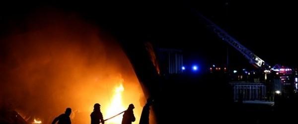 Incêndio na fábrica Salvador Caetano