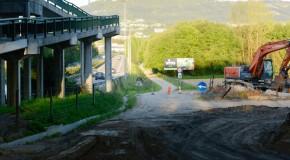 Já está a ser construído o ramal de ligação da estrada de Pevidém à Variante de Creixomil
