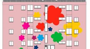 """José de Guimarães pinta """"Primavera"""" em prédio social amigo do ambiente"""