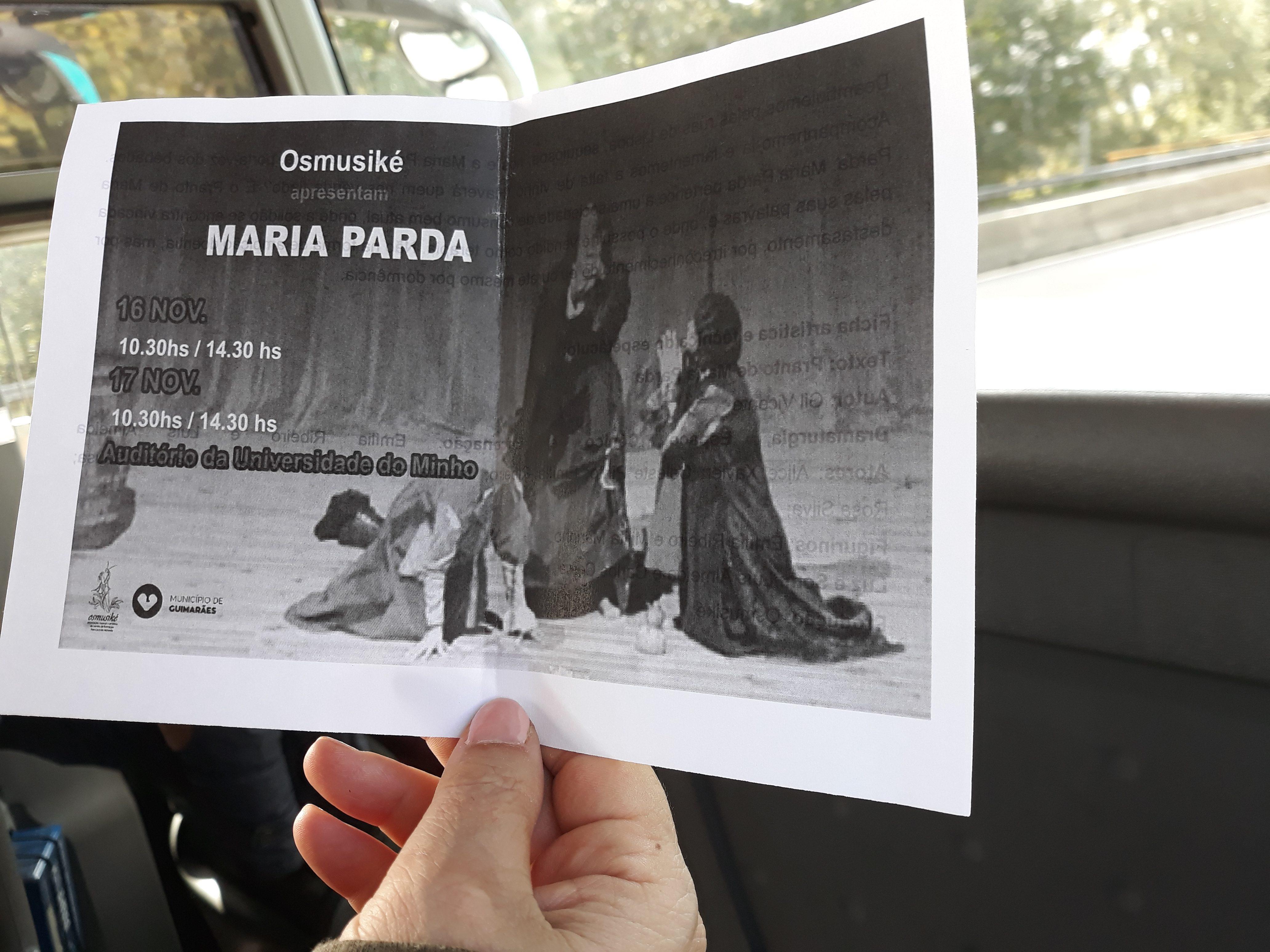 """Os alunos do 9.° ano foram assistir à peça de teatro """"Maria Parda"""", de Gil Vicente"""