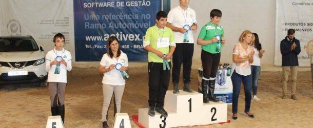 Aluno Tiago Jorge do 9ºD  vence prova de equitação
