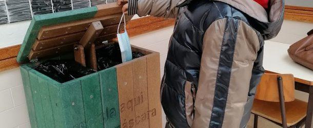 Ecopontos para reciclar máscaras